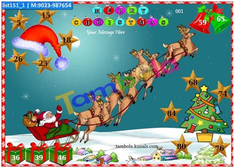 christmas themes for kitty parties christmas theme tambola housie tickets kitty party games