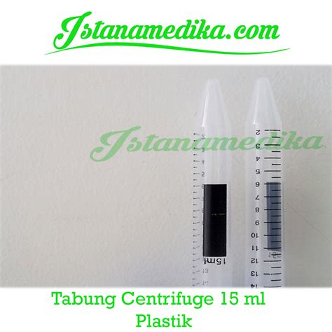 Tabung Reaksi Untuk Centrifuge tabung centrifuge 15 ml plastik istana medika