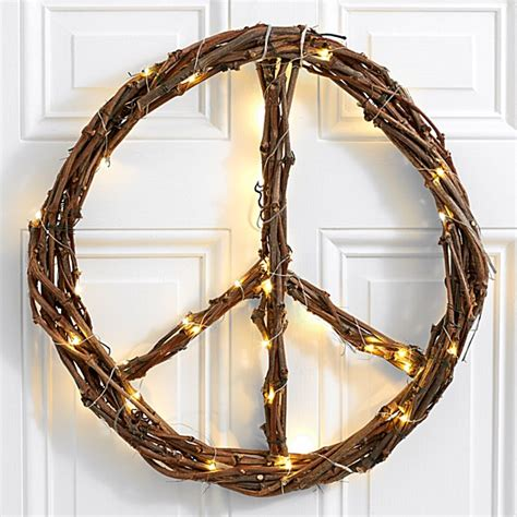 lighted peace sign wreath wreaths for front door outdoor wreaths proflowers