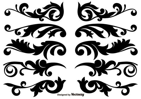 border decorative element patterns vector scroll works design ornamental decorative vector elements