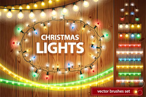 christmas lights decorations set by voy design bundles
