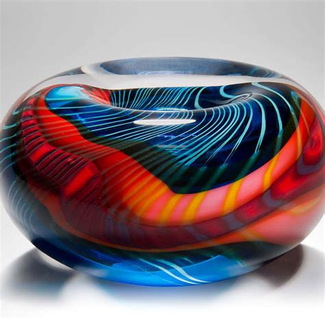 Handmade Glass Bowls - handmade glass bowl turquoise paradiso by layton