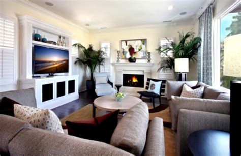 Where To Put Tv In Living Room With Lots Of Windows | modern living room ideas with fireplace and tv home design