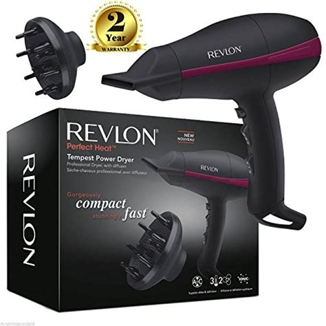Hair Dryer Diffuser Revlon revlon pro ac tempest power hair dryer rvdr5821duk with diffuser 2000 watt