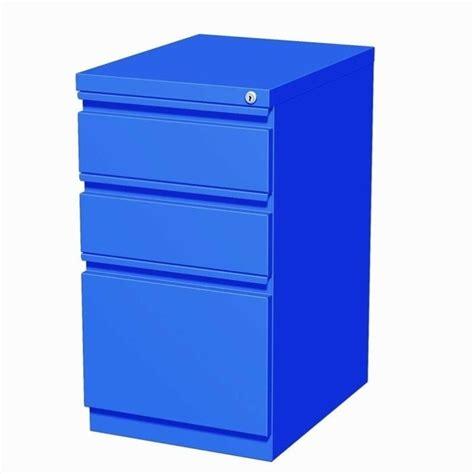 Mobile File Cabinet 3 Drawer Mobile File Cabinet In Blue 19356