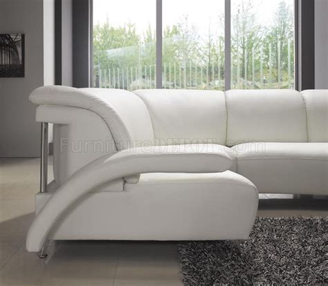 U Shaped Leather Sectional Sofa White Leather Modern U Shaped Sectional Sofa W Shelves