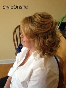 half up hairstyles for mother of the groom mother of the bride half up half down side swept bangs