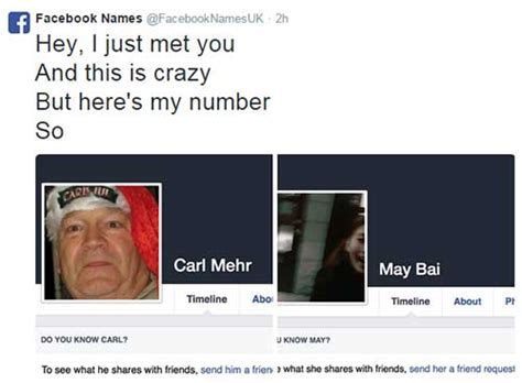 Meme Account Names - hilarisch 28x facebook namen verwerkt in songteksten