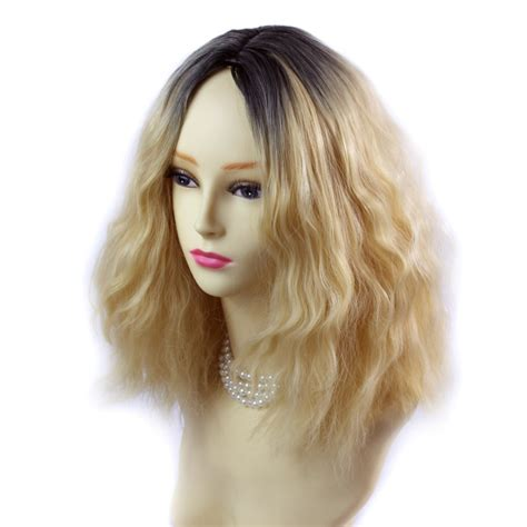 obre dye dip golden medium length hair wiwigs wiwigs 174 wonderful wild untamed medium curly wig