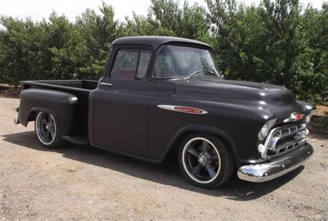 1957 chevy truck hot rod 1957 chevrolet truck 3100 big window short bed hot rod