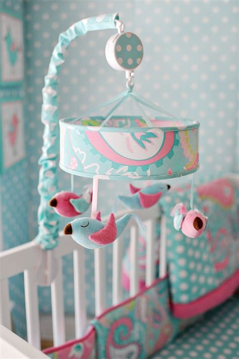 Blue Crib Mobile by Pixie Baby Mobile In Aqua