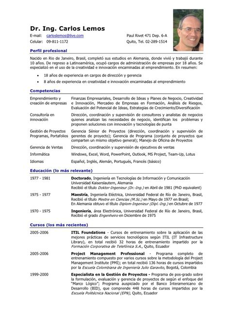 Modelo Curriculum Vitae Analista Programador Modelo De Curriculum Vitae 18 A 241 Os Modelo De Curriculum Vitae