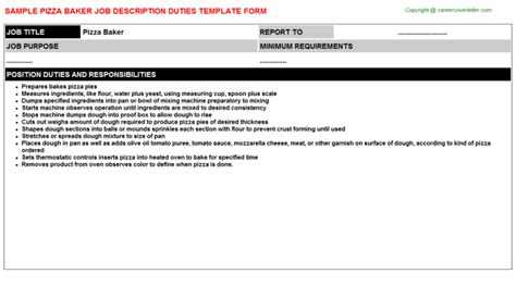 pastry chef responsibilities baker pastry chef cover letter