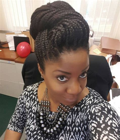 pictures od ling box braids in a bun 17 box braid updo hairstyle ideas designs design