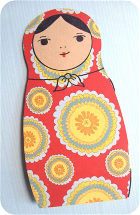 russian craft projects zakka craft project russian nesting doll card