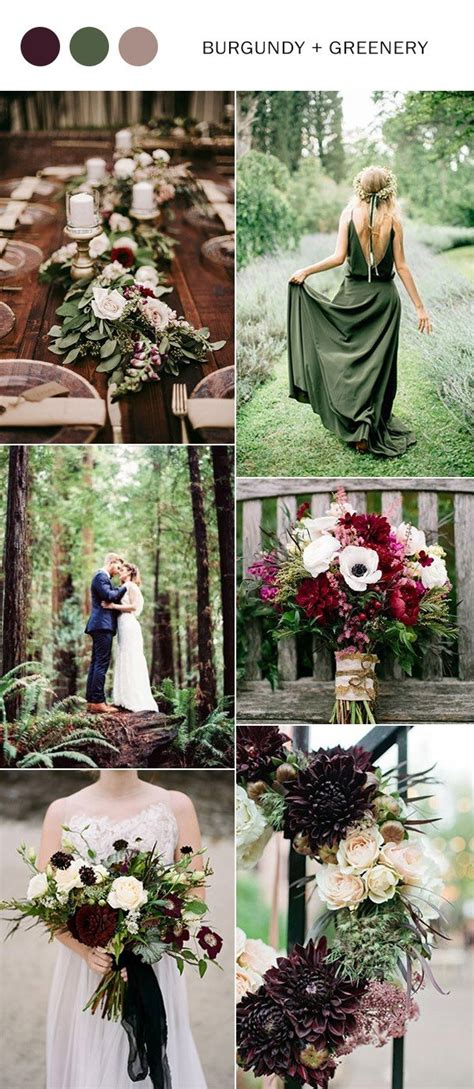wedding color ideas trending 5 burgundy wedding color ideas to
