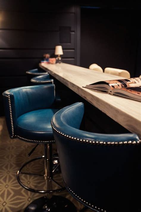 Teal Leather Counter Stool by Teal Leather Bar Stools Thetastingroomnyc
