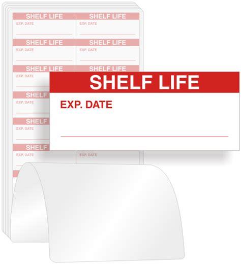 Shelf Lives by Shelf Calibration Labels On White Sku Qc 230