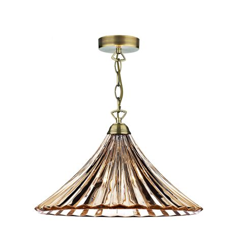 Single Pendant Ceiling Lights Ardeche Single Pendant In Antique Brass With A Fluted Glass Shade Ard866