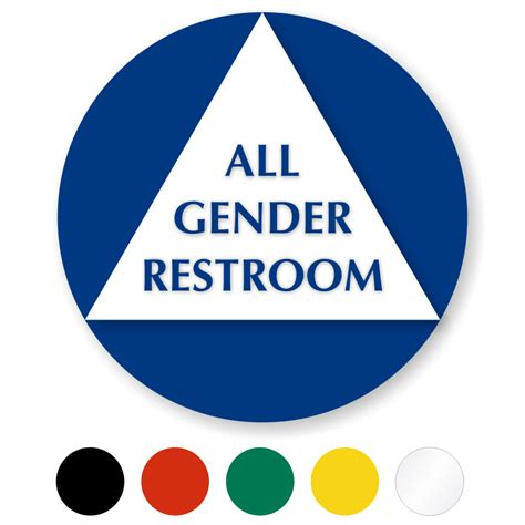 all gender bathroom sign circular california all gender sintra restroom door sign