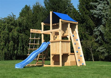 swing set spacing cedar swing sets the quad space saver climber