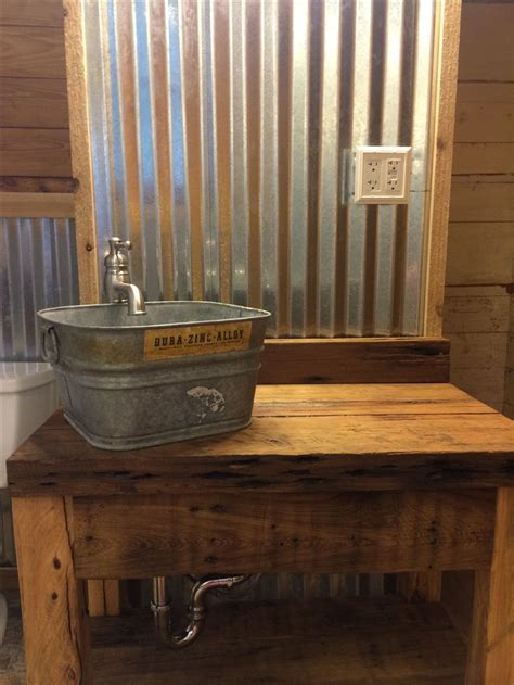 cave bathroom sink best 25 barn bathroom ideas on sheet metal