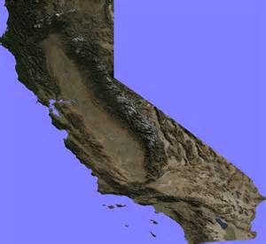 topographical map california topographic map of california