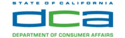 welcome to the department of consumer affairs license