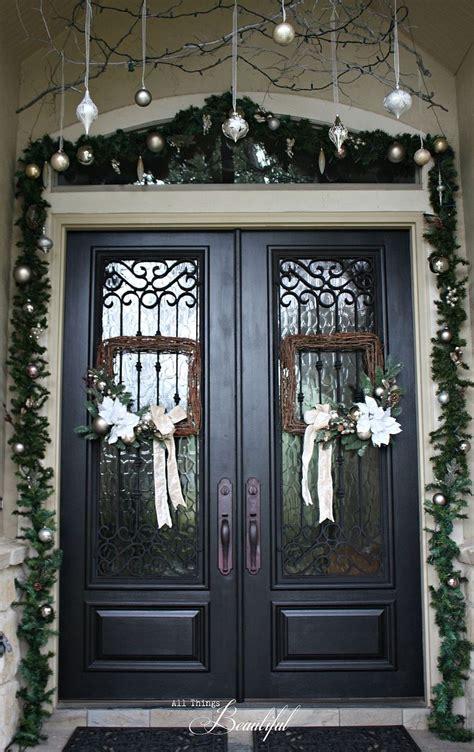 hometalk christmas porch  front door garland diy