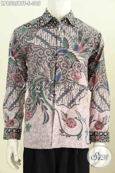 Baju Lengan Panjang Untuk Pria model baju batik pria terbaru 2017 lengan panjang hem batik elegan untuk rapat dan acara resmi