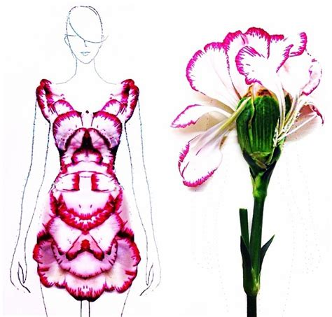 procedure of petals hairstyle fashion illustrator turns flower petals into gorgeous dresses