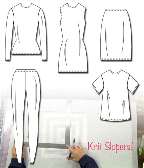 basic sloper sewing patterns sewing blog burdastyle com draft your own stretch fabric slopers sewing blog
