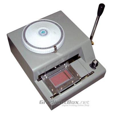 Sticker Embos Besar Angka mesin emboss untuk id card rp 5 9 juta