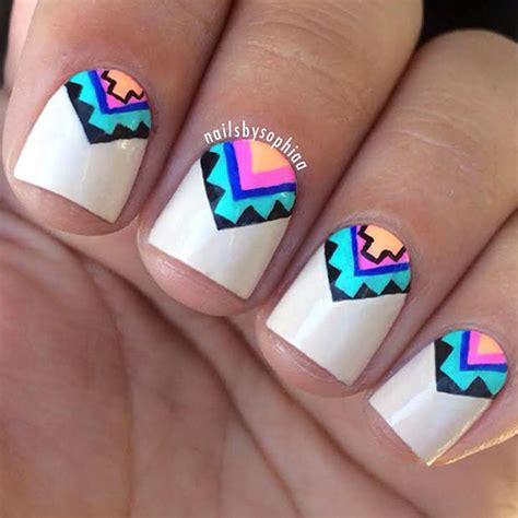 aztec pattern nail art 66 nail art ideas for short nails pretty designs