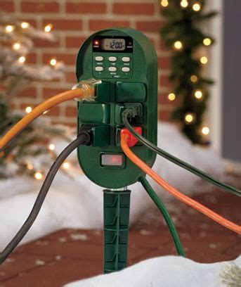 setting christmas lights on a timer 6 outlet digital multi function outdoor timer for outdorr lights yard ebay