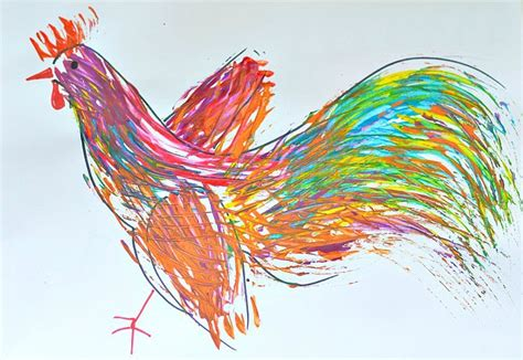 rooster art fun family crafts