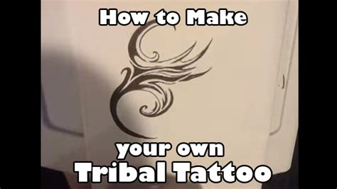 make your own tribal tattoo sketch how to draw your own tribal 01