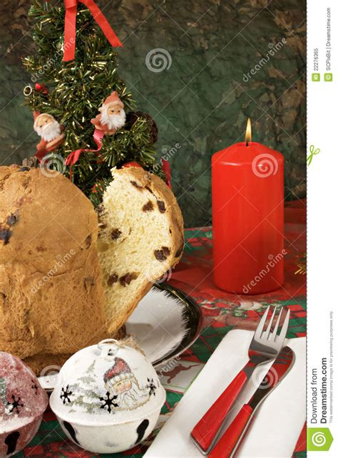 panettone italian xmas cake royalty free stock photo