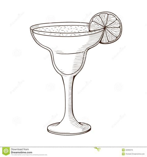 cocktail clipart black and white cocktail in a glass stock vector illustration