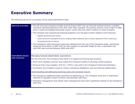 Pics For Gt Executive Summary Template Powerpoint Executive Summary Slide Template