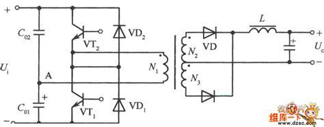 half bridge inverter capacitor design half bridge converter power supply circuit diagram composed of two capacitors and high voltage