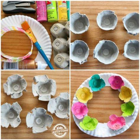 cara membuat mainan dari barang bekas bahasa inggris mengubah kemasan telur menjadi karangan bunga tutorial