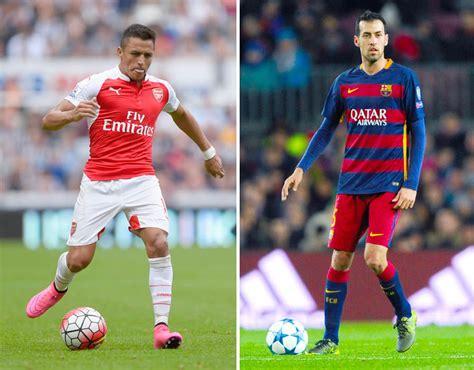 barcelona vs arsenal arsenal vs barcelona combined xi sport galleries pics