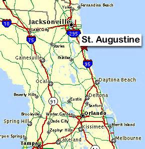 augustine florida map st augustine florida is about 50 south of