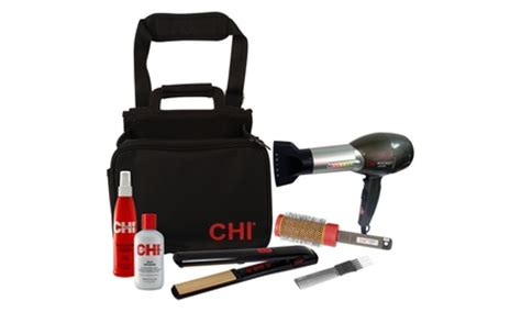 Hair Dryer Carry On Baggage chi dryer g2 flat iron and styling set with