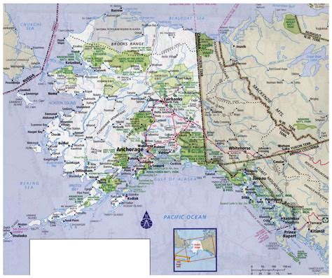 alaska usa map cities large detailed roads and highways map of alaska state with