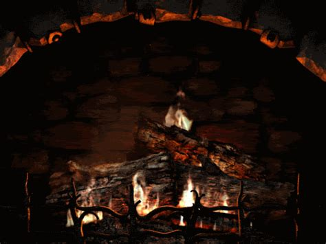 Fireplace Gifs by Cold Yule Log Gif Find On Giphy