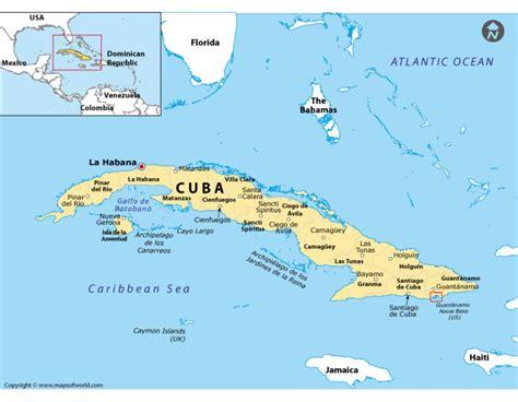 map usa cuba buy printed guantanamo location map