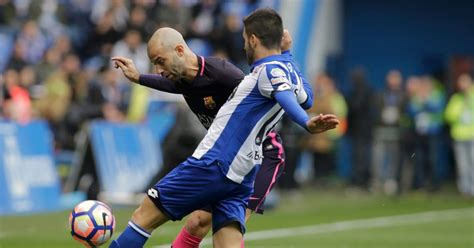 barcelona vs deportivo deportivo la coruna 2 1 barcelona live score and goal