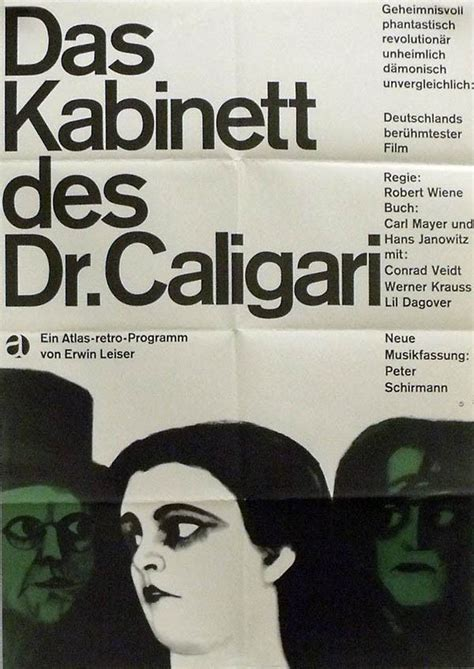 Cabinet Of Dr Caligari Poster by Poster Of The Week The Cabinet Of Dr Caligari